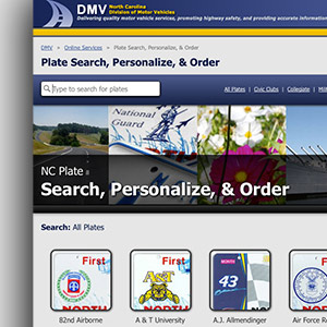 NC DMV Registration, Special Plates, & Taxes Image